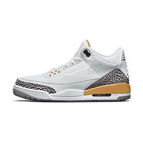 预售!Air Jordan 3 AJ3 白橙 小湖人 女款篮球鞋 CK9246-108(2020.8.21发售)