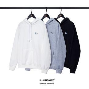 ILLUSIONIST 17F/W lifestyle elements 海浪刺绣加绒帽衫