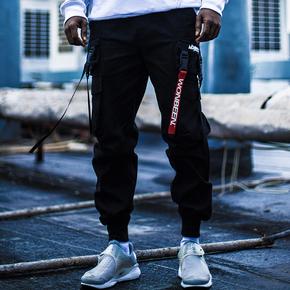 wonbeen2017aw 可拆卸织带束脚裤