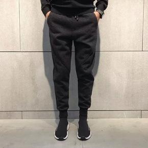 JOESPIRIT高级质感灰竖条纹设计秋冬休闲裤 8189