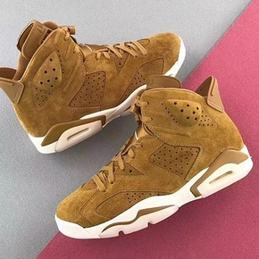 预售!Air Jordan 6 Wheat AJ6 麂皮小麦色 篮球鞋 384664-705