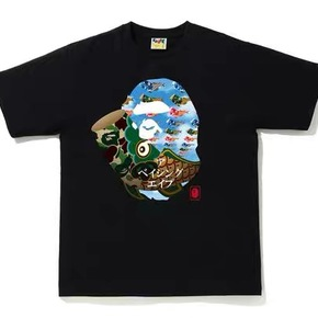 BAPE 2020新款迷彩錦鯉大猿人頭T恤短袖 日本制
