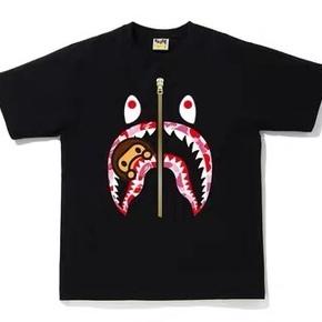 BAPE 2020新款abc milo迷彩鲨鱼T恤