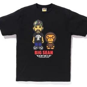 BAPE bigsean说唱歌手合作款联名短袖T恤