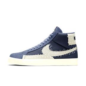 "Nike SB Blazer Mid Premium""SASHIKO"" 白蓝刺绣高帮板鞋 CT0715-400"