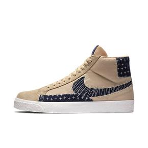 "Nike SB Blazer Mid ""Sashiko"" 棕色刺绣高帮板鞋 CT0715-200"