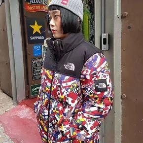 The North Face 北面羽绒服 韩国冬奥会国旗运动羽绒服