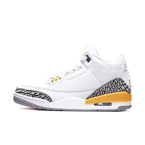 Air Jordan 3 AJ3白橙小湖人 爆裂纹篮球鞋 CK9246-108