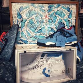 GZKHCOM 男孩房间墙壁床头aj北卡蓝球鞋挂画装饰画简约现代创意个性壁画