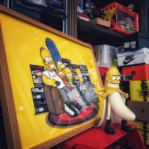 GZKHCOM the simpsons辛普森球鞋一家aj球鞋挂画装饰画潮流潮牌潮人壁画