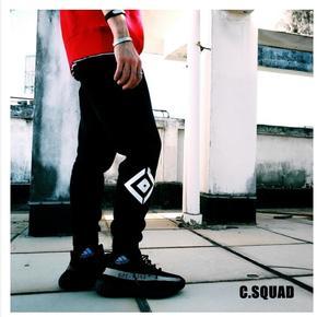 C.SQUAD 路口指示加绒棉裤 卫裤 运动裤 束脚裤 3352CS1