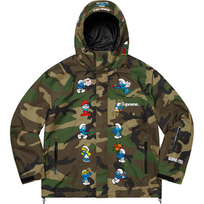 Supreme 20fw smurfs goretex shell jacket