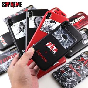 【定制】Supreme Akira 阿基拉动漫联名限量版全包全包tpu软壳for iPhone6,7,8,X