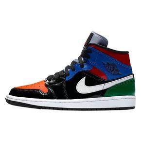 Air Jordan 1 Mid AJ1 中帮 彩色拼接 女子篮球鞋 CV5276-001
