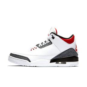 Air Jordan 3 AJ3 丹宁火焰红黑白水泥双logo CZ6431-100
