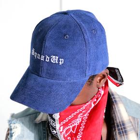 BTW潮牌棒球帽 欧美街头帽子男女嘻哈纯色灯芯绒刺绣弯檐鸭舌帽 BO1720