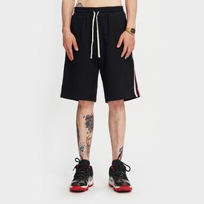 BTW夏季侧边织带休闲运动五分裤男女国潮牌拼接撞色宽松条纹短裤 BK222