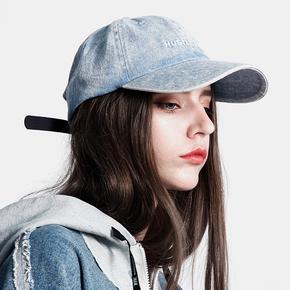 BTW街头嘻哈潮流男女弯檐帽子软顶刺绣鸭舌帽水洗百搭牛仔棒球帽 BO18130