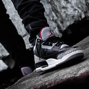 预售!Air Jordan 3 Black Cement 黑水泥 854261-854262-001
