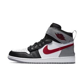 Air Jordan 1 AJ1 烟灰 红钩 灰红魔术贴拉链 篮球鞋CQ3835-002