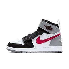 Air Jordan 1 AJ1 烟灰 红钩 灰红魔术贴拉链 篮球鞋CT4897-002