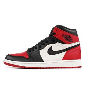 预售!Air Jordan 1 OG Bred Toe 乔1 黑脚趾 红黑 555088-610