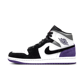 "Air Jordan 1 Mid SE ""Varsity Purple""  黑白紫 852542-105"