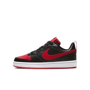 Nike Court Low 小黑红禁穿复古女子低帮板鞋 BQ5448-007