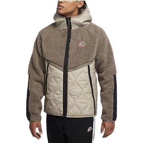 Nike Sportswear 全开襟连帽保暖摇粒绒外套 CU4447-040