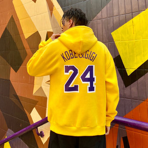 GZKHCOM 纪念科比卫衣致敬曼巴精神印花连帽加绒潮流湖人24号篮球
