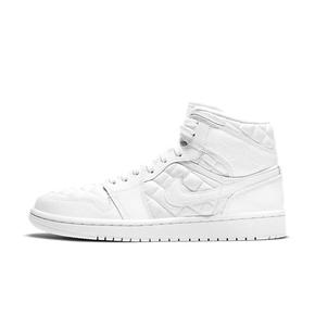 Air Jordan 1 Mid Quilted AJ1纯白菱格纹篮球鞋 DB6078-100