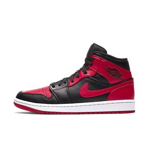 "Air Jordan 1 Mid  ""Bred"" 黑红 小禁穿 554724-074"