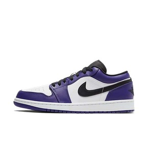 Air Jordan 1 low AJ1 白紫脚趾 黑紫 低帮 553558-500