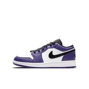 "Air Jordan 1 Low  ""Court Purple""GS 白紫脚趾 553560-500"