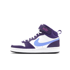 Nike Court Borought MId GS 白紫蓝 女款CD7782-106