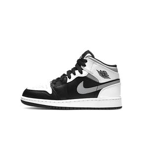 "Air Jordan 1 Mid GS""小熊猫""白灰黑554725-073"