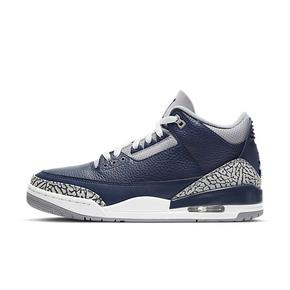 "Air Jordan 3 ""Midnight Navy""午夜蓝 爆裂纹篮球鞋 CT8532-401"