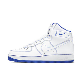 Nike Air Force 1 HIGH AF1白蓝 高帮板鞋 CV1753-101