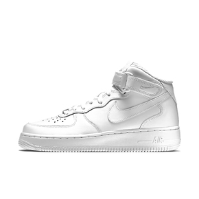 Nike Air Force 1 GS Mid 纯白 366731-100