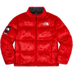 Supreme 20fw supreme/the north face faux fur nuptse jacket