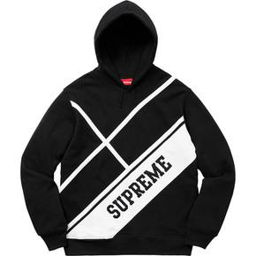 Supreme 18春夏 Diagonal Hooded Sweatshirt
