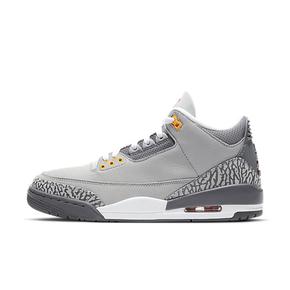 """预售!Air Jordan 3 """"Cool Grey""""酷灰 爆裂纹篮球鞋 CT8532-012(2021.1.30发售)"""