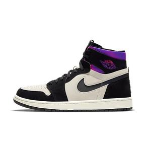 """预售!Air Jordan 1 Zoom Comfort """"PSG"""" 大巴黎 黑白紫篮球鞋 DB3610-105(2021.2.17发售)"""