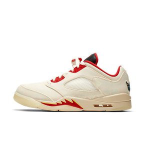 "Air Jordan 5 Low ""Chinese New Year"" 白红 刮刮乐 DD2240-100"