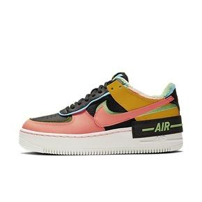 Nike Air Force 1 AF1 黑粉黄加厚绒毛马卡龙 CT1985-700