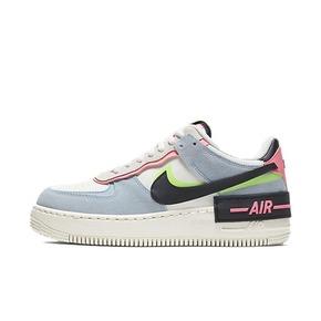 Nike Air Force 1 AF1 蓝粉马卡龙女空军增高 CU8591-101
