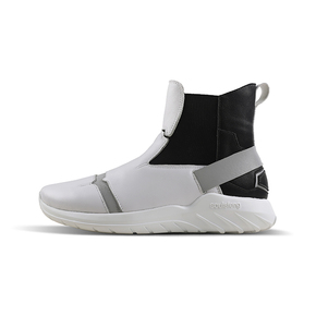 Soulsfeng/索罗芬新款运动鞋高帮皮面反光黑白 S200919A
