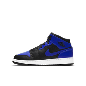 "Air Jordan 1 Mid ""Hyper Royal"" (GS)皇家蓝  女款篮球鞋 554725-077"