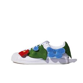 Melting Sadness x adidas originals Superstar 情人节限定 白绿蓝联名板鞋 GZ2662