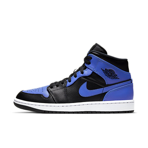 "Air Jordan 1 Mid ""Hyper Royal""黑蓝 高帮篮球鞋 554724-077"